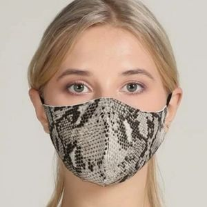 Snake Skin Print Face Mask reusable Adjustable